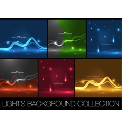 Set of shiny space energy design templates vector image