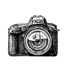 Single-lens reflex camera vector