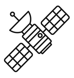 space satellite icon outline style vector image