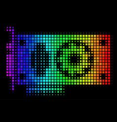 spectrum pixel video gpu card icon vector image