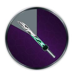 Sword in progress frame vector