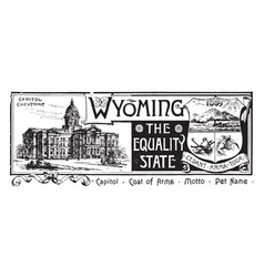 The state banner of wyoming the equality state vector