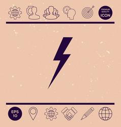thunderstorm lightning icon vector image