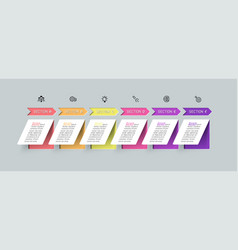 Vertical paper flat infographics with shadow vector