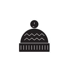 winter hat black concept icon winter hat vector image
