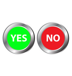 Yes and no button symbol the mark is correct and vector