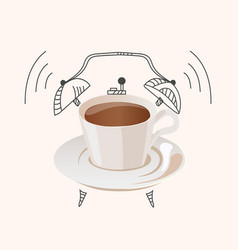 coffee wake up concept vector image