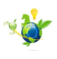 cretive nature green eco earth symbol vector image vector image