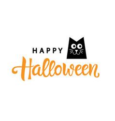 happy halloween typography poster vector image vector image