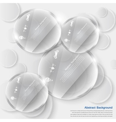 white circle glass Abstract background vector image