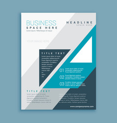a4 business brochure design with blue grometric vector image vector image