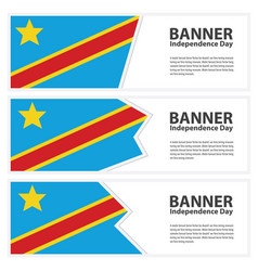 democratic republic of the congo flag banners vector image