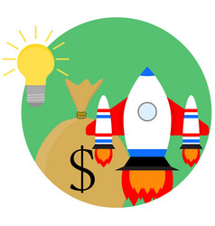 idea of a business start-up vector image vector image
