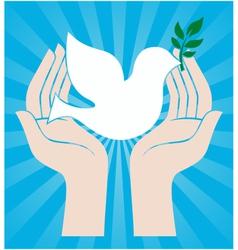 peace dove symbol vector image