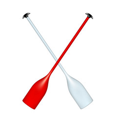 two crossed paddles vector image vector image