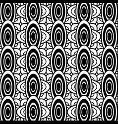 Black and white oval geometric pattern background vector