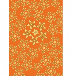 funky floral pattern vector image