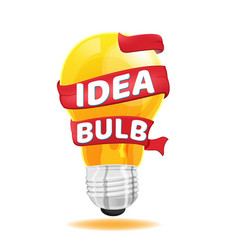 light bulb red ribbon idea concept vector image vector image