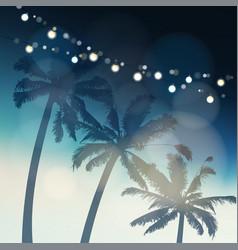tropical summer party or festa junina greeting vector image vector image