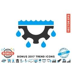 Water Gear Drops Flat Icon With 2017 Bonus Trend vector image vector image