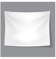 white blank fabric background banner vector image