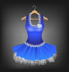 blue dress with lace vector image vector image