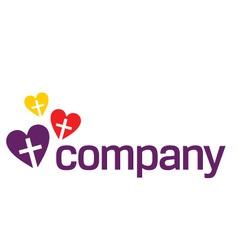 colour religion love logo vector image