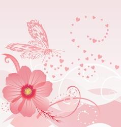 cosmos flower vector image vector image