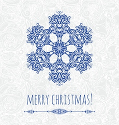 decorative snowflake design template vector image