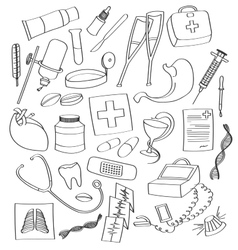 Doodle Medical vector image vector image