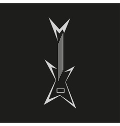 Electric guitar logo vector