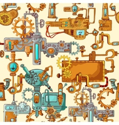 Industrial Machines Seamless vector image vector image