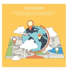 Location concept World map infographic vector image