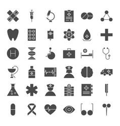 medicine solid web icons vector image vector image