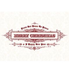Merry christmas vintage header vector