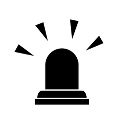 Siren emergency light lamp vector