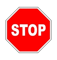 Stop icon Do not enter sign with text vector image vector image