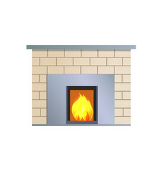 Abstract fireplace colorful vector