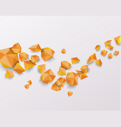abstract geometric background 3d shapes vector image
