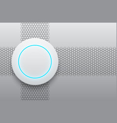 Abstract modern white circle button technology vector