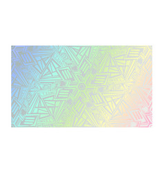 abstract neon holographic geometric texture vector image