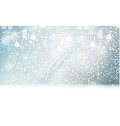 abstrat winter snow blue background vector image