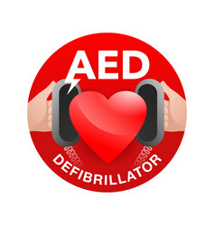 Aed - automated external defibrillator vector
