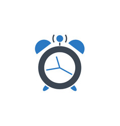 alarm clock related glyph icon vector image