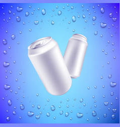 aluminium can mockup for beer or soda drink vector image