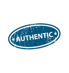 authentic sign sticker stamp texture vector image