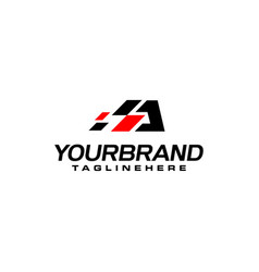 Auto speed letter a with race element logo vector