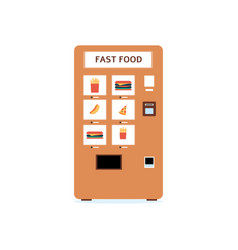 automatic vending machine with assortment flat vector image