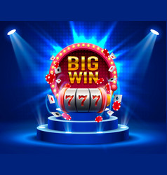 Big win slots 777 banner casino vector
