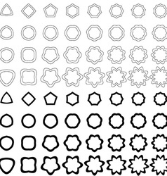Black curved polygon shape collection vector